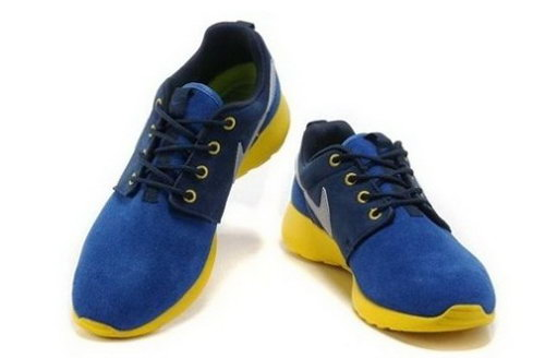 Hot Sell Online Popular Nike Roshe Run Womenss Shoes Blue Yellow
