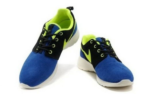 Hot Sell Online Popular Nike Roshe Run Womenss Shoes White Blue Yellow Low Price