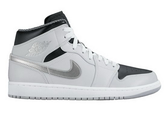 Mens & Womens (unisex) Air Jordan Retro 1 Grey Black Silver Coupon