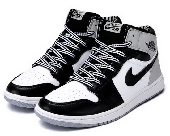 Mens & Womens (unisex) Air Jordan Retro 1 Grey White Black Sweden