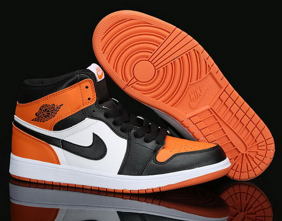 Mens & Womens (unisex) Air Jordan Retro 1 Orange Black White Poland