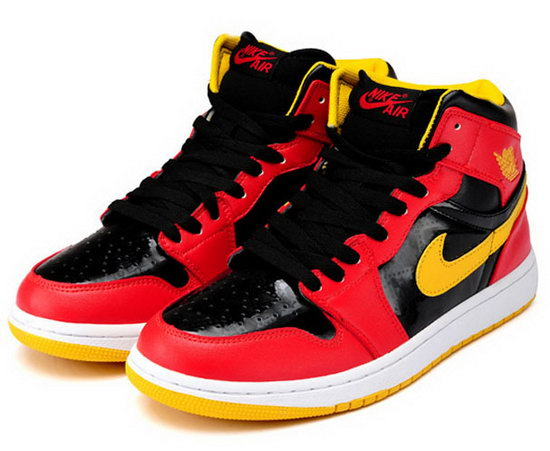 Mens & Womens (unisex) Air Jordan Retro 1 Red Black Yellow Wholesale