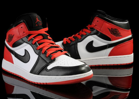 Mens & Womens (unisex) Air Jordan Retro 1 Red White Black Sale