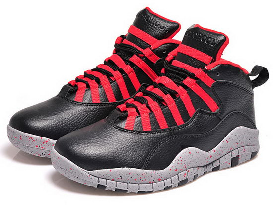 Mens & Womens (unisex) Air Jordan Retro 10 Black Red Sale