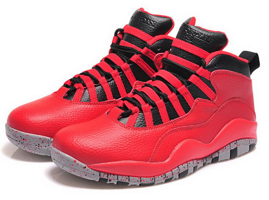 Mens & Womens (unisex) Air Jordan Retro 10 Red Black Online Store