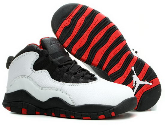 Mens & Womens (unisex) Air Jordan Retro 10 White Black Red Outlet Store