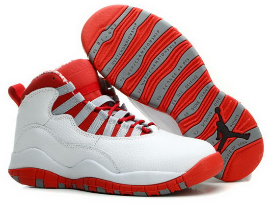 Mens & Womens (unisex) Air Jordan Retro 10 White Red Usa