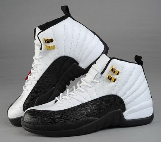 Mens & Womens (unisex) Air Jordan Retro 12 White Black Clearance