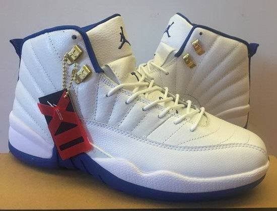 Mens & Womens (unisex) Air Jordan Retro 12 White Blue Korea