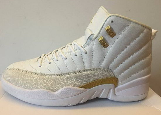 Mens & Womens (unisex) Air Jordan Retro 12 White Gold Closeout