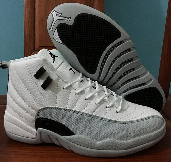 Mens & Womens (unisex) Air Jordan Retro 12 White Grey Black Czech