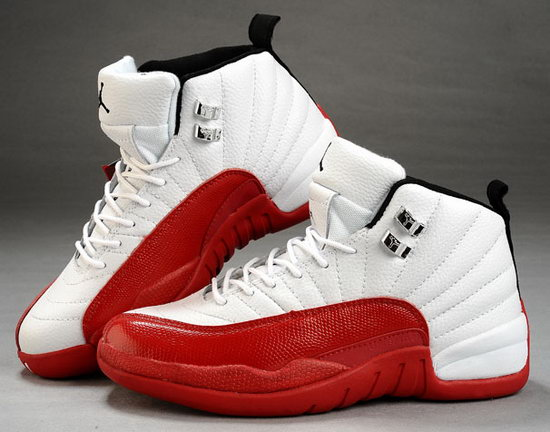 Mens & Womens (unisex) Air Jordan Retro 12 White Red Netherlands