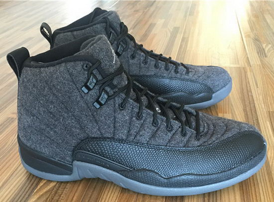 Mens & Womens (unisex) Air Jordan Retro 12 Wool Black Low Cost