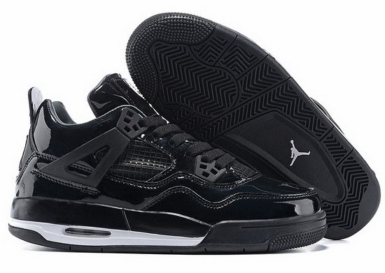 Mens & Womens (unisex) Air Jordan Retro 4 All Black Cheap