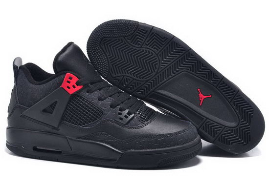 Mens & Womens (unisex) Air Jordan Retro 4 Black