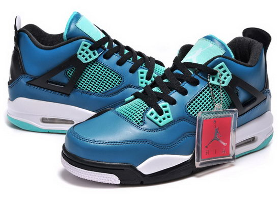 Mens & Womens (unisex) Air Jordan Retro 4 Blue Black Outlet Online