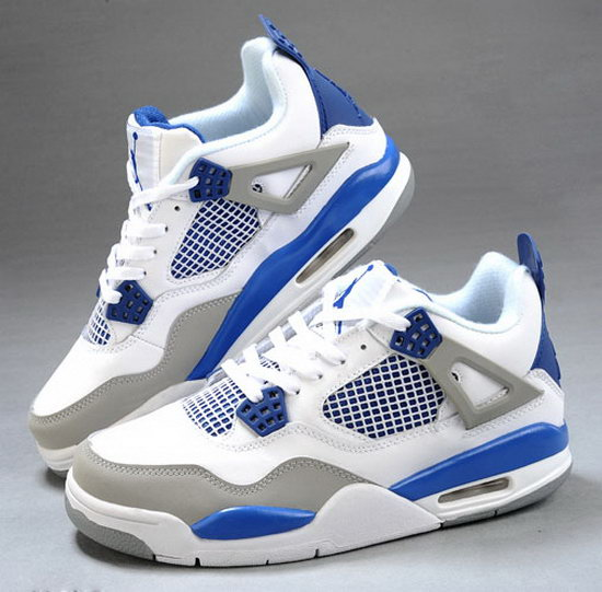 Mens & Womens (unisex) Air Jordan Retro 4 White Blue Grey Ireland