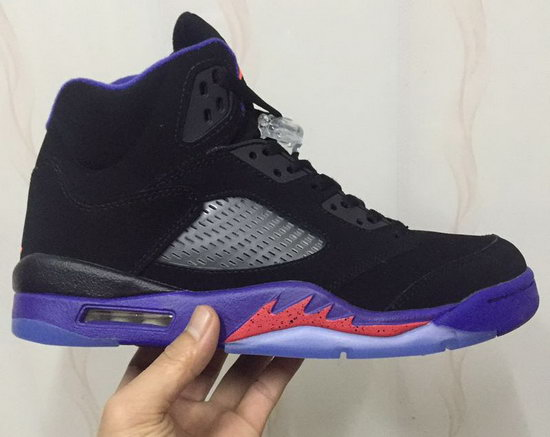 Mens & Womens (unisex) Air Jordan Retro 5 Black Purple Closeout