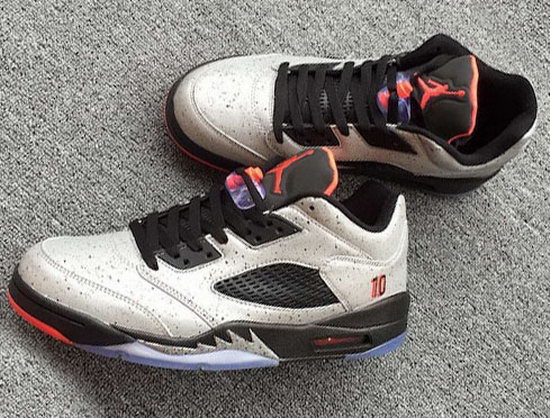 Mens & Womens (unisex) Air Jordan Retro 5 Low White Black Nemal Cheap