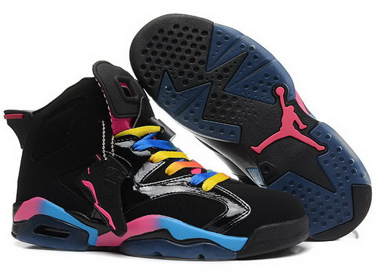 Mens & Womens (unisex) Air Jordan Retro 6 Black Colorful Uk