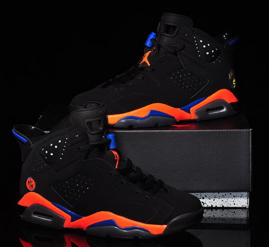 Mens & Womens (unisex) Air Jordan Retro 6 Black Orange Poland
