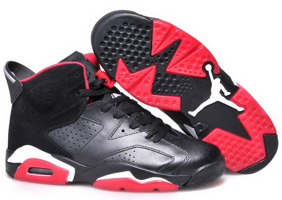 Mens & Womens (unisex) Air Jordan Retro 6 Black Red White Switzerland