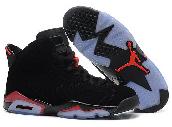 Mens & Womens (unisex) Air Jordan Retro 6 Black Red Sale