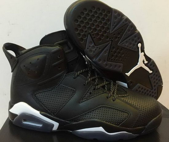 Mens & Womens (unisex) Air Jordan Retro 6 Black White Online Store