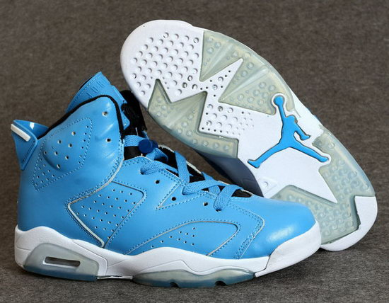 Mens & Womens (unisex) Air Jordan Retro 6 Blue Outlet Store