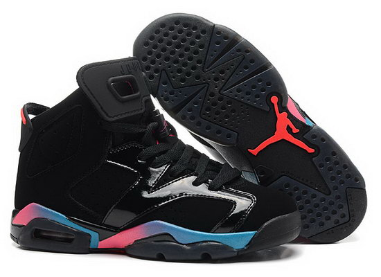 Mens & Womens (unisex) Air Jordan Retro 6 Colorful Black Japan