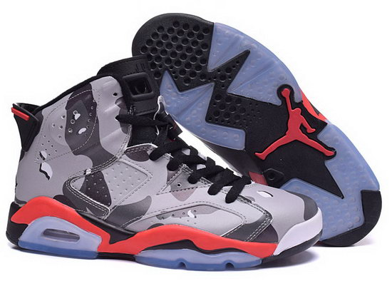 Mens & Womens (unisex) Air Jordan Retro 6 Grey Black Red Promo Code