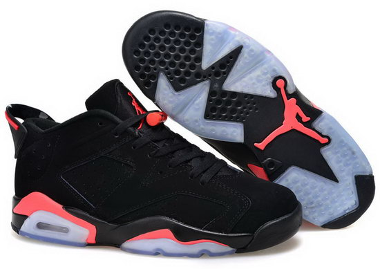 Mens & Womens (unisex) Air Jordan Retro 6 Low Black Red Clearance