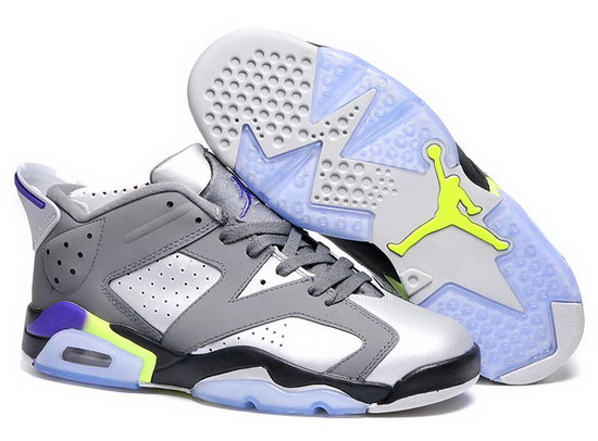 Mens & Womens (unisex) Air Jordan Retro 6 Low Grey White Closeout