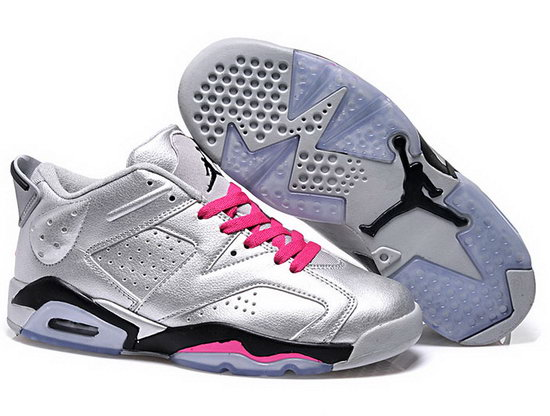 Mens & Womens (unisex) Air Jordan Retro 6 Low Silver Pink Czech