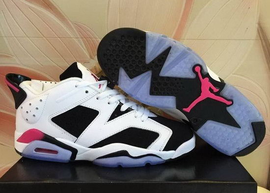 Mens & Womens (unisex) Air Jordan Retro 6 Low White Black Netherlands
