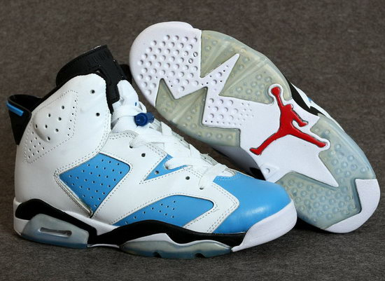 Mens & Womens (unisex) Air Jordan Retro 6 White Blue On Sale