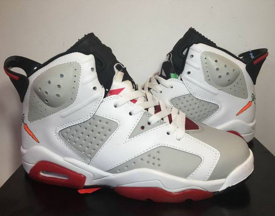 Mens & Womens (unisex) Air Jordan Retro 6 White Grey Black Red Greece