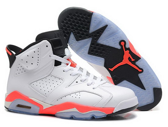 Mens & Womens (unisex) Air Jordan Retro 6 White Orange Reduced
