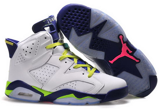 Mens & Womens (unisex) Air Jordan Retro 6 White Purple Green Online