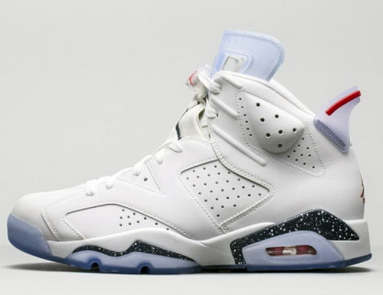 Mens & Womens (unisex) Air Jordan Retro 6 White Norway