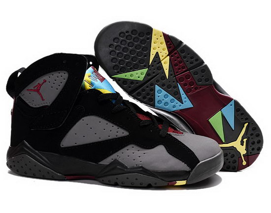 Mens & Womens (unisex) Air Jordan Retro 7 Black Grey Red Best Price