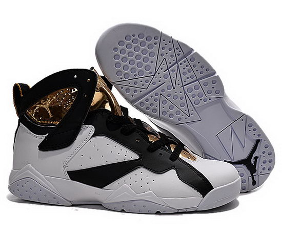 Mens & Womens (unisex) Air Jordan Retro 7 White Black Gold Discount Code