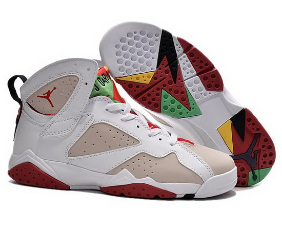 Mens & Womens (unisex) Air Jordan Retro 7 White Sand Red Factory Store