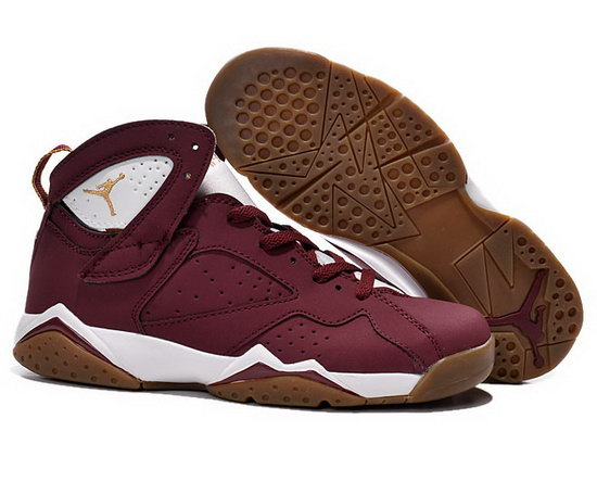 Mens & Womens (unisex) Air Jordan Retro 7 Wine White Gold Outlet Online