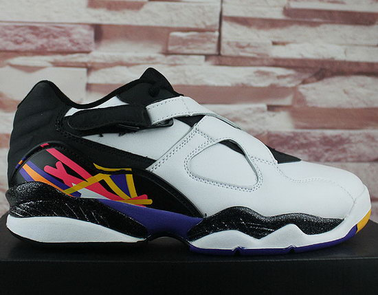Mens & Womens (unisex) Air Jordan Retro 8 Low White Black Best Price