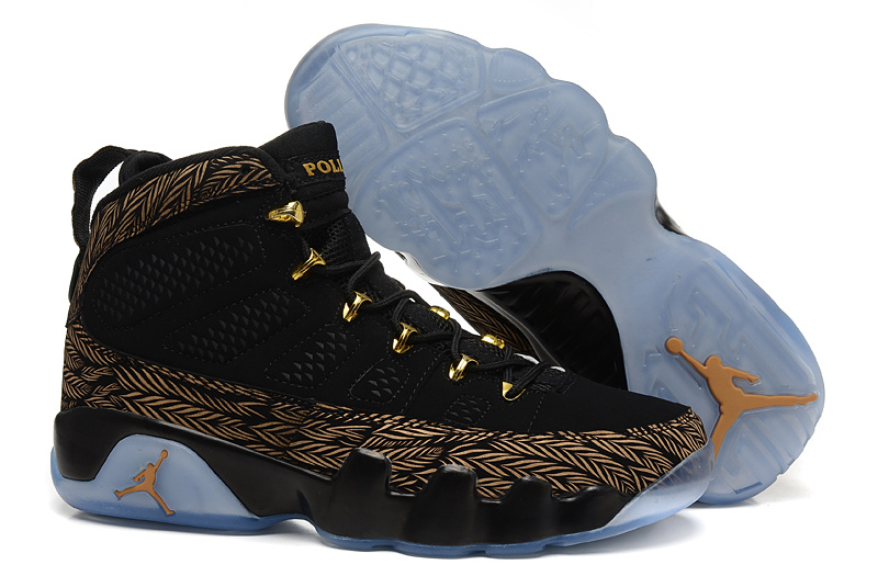 Mens & Womens (unisex) Air Jordan Retro 9 Black Gold Wheat Ireland