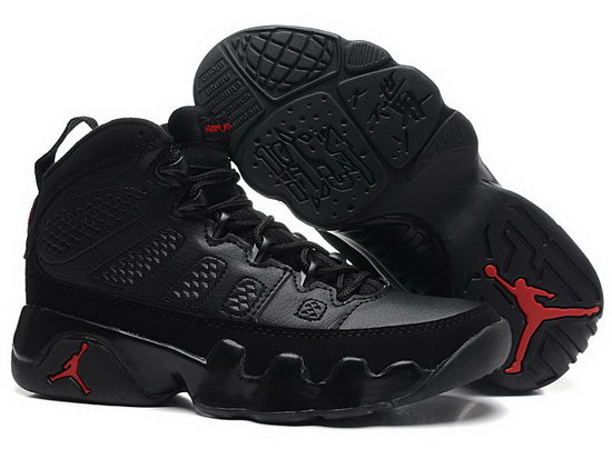 Mens & Womens (unisex) Air Jordan Retro 9 Black Red Greece