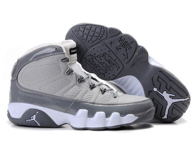 Mens & Womens (unisex) Air Jordan Retro 9 Grey Light Grey France