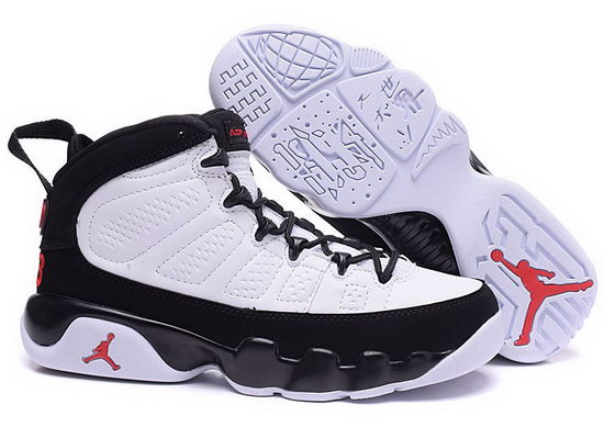Mens & Womens (unisex) Air Jordan Retro 9 White Black Red Norway