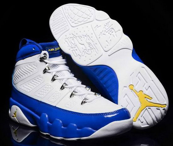 Mens & Womens (unisex) Air Jordan Retro 9 White Blue Spain